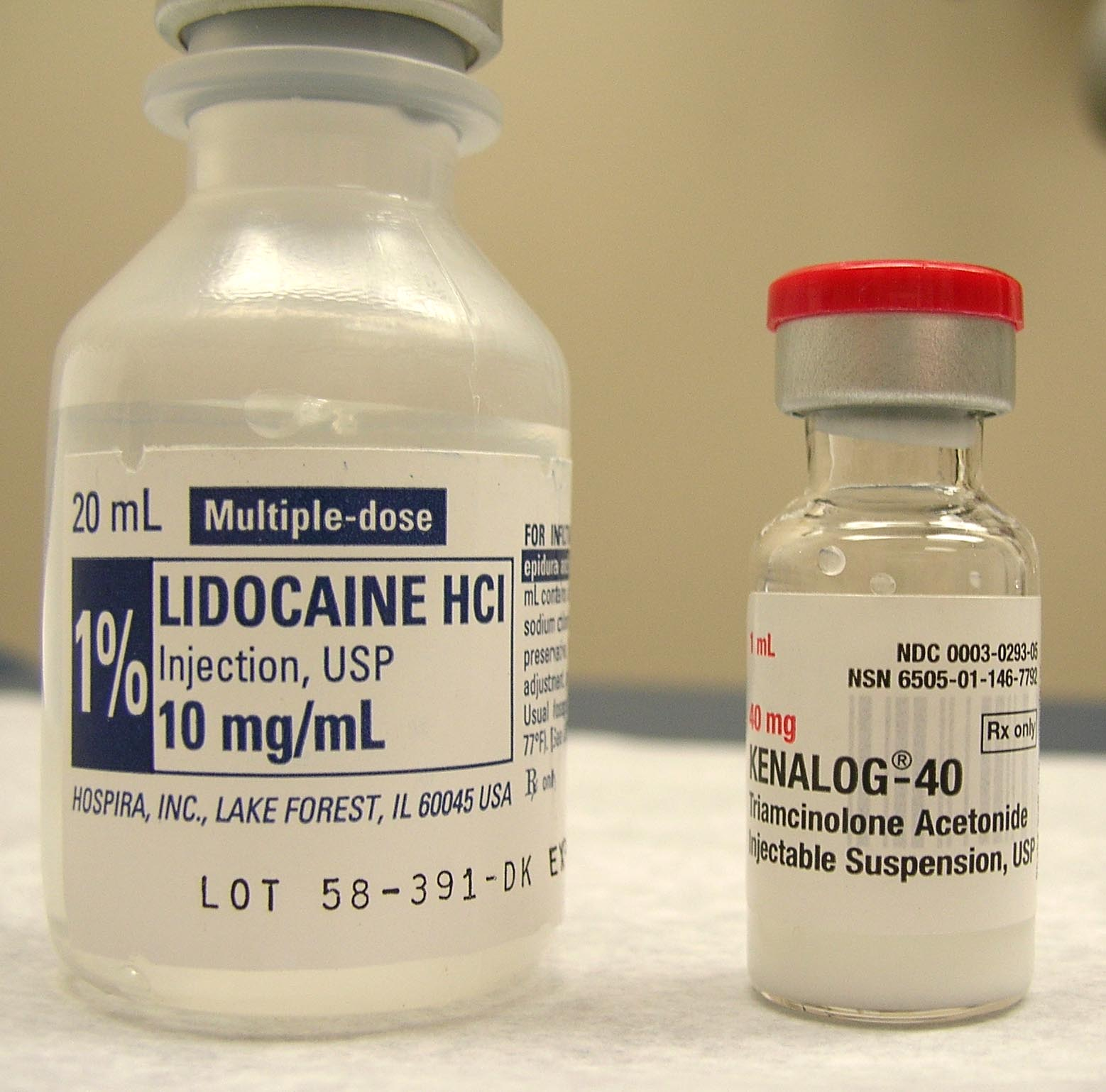 lidocaine injection dosing information