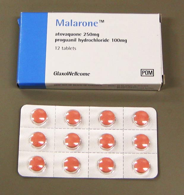 Generic name for malarone