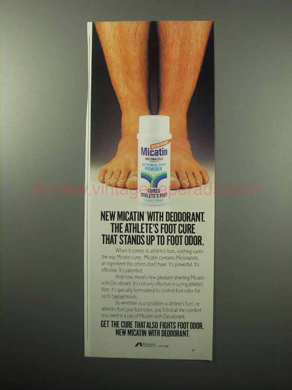 Drugs reference index « Micatin Foot Powder Deodorant »