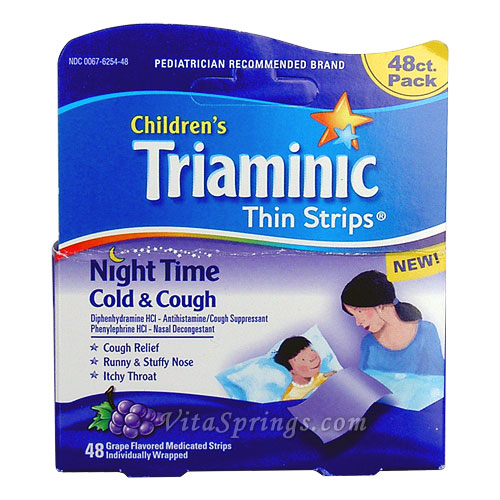 Triaminic Thin Strips Cold Patient Information
